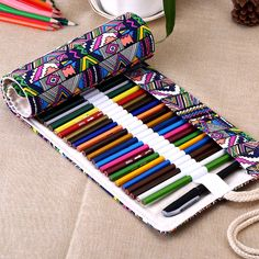 - Nationale Leinwand Schule Federmäppchen Löcher Rollen Oben Bleistift … National Canvas School Pencil Case Holes Roll Up Pencil Bag Portable Pencil Box School Supplies material escolar - Roll Up Pencil Case, School Pencil Case, Diy Pencil Case, Pencil Boxes, Pencil Pouch, Pencil Holder, Pencil Sharpener, Pen Holders, Sewing Crafts