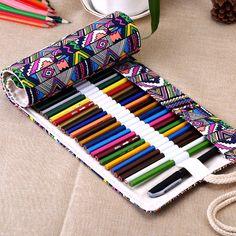 Aliexpress.com: Comprar 36 / 48 / 72 Holes pluma del caso de lápiz estudiantes papelería bolsa del rodillo maquillaje Comestic bolsa de bolsa de serpiente fiable proveedores en Aaron trade mall