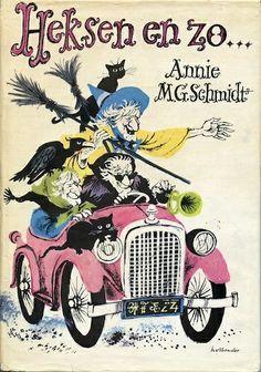 Annie MG Schmidt - Heksen en zo lb xxx. Schmidt, Kids Library, Dutch Artists, Book Tv, Vintage Children's Books, Kids Corner, Children's Book Illustration, Book Worms, Childhood Memories