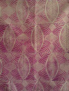 repeat block lino printed fabric - #textile