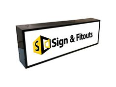 Single-Sided Rectangular Light Box Sign - Sign And Fitouts Box Signs, Wall Signs, Awning Lights, Wall Mounted Light, Extruded Aluminum, Artwork Design, Display, Home Decor, Wall Plaques