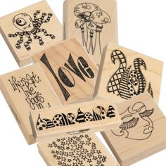 Nona Designs - Dyan Reaveley Dylusions Wood Mounted Stamps