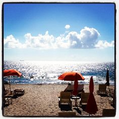 A beautiful morning by the ocean at Four Seasons Resort Palm Beach.