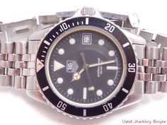 Tag Heuer 1000 Professional 1980s Vintage Black Dial Diver Dive Watch 980.013b #TagHeuer #Luxury