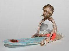 Michel Freyer Surfing Surfer Sculpture Statue  Facebook Page: https://www.facebook.com/surfartmichel.freyer?lst=1623222686%3A100000386796225%3A1437056949