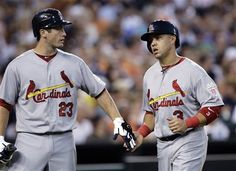 Carlos Beltran and David Freese 6-20-12