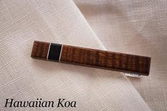 Wooden Tie Clip   Donald J Fuss Fine Woodworking   Bourbon & Boots