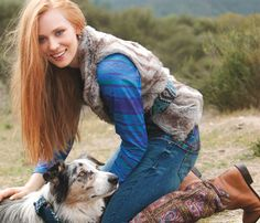 Can't figure out the best part of this pic-the boots, the Aussie or Deborah Ann Woll!