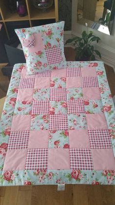 Cath Kidston Lap Quilt Set Quilt with by TraceysTreasureChest # patchwork quilts shabby chic Vintage style baby quilt cot quilt crib quilt true vintage French chic quilt handmade Quilt Baby, Baby Patchwork Quilt, Cot Quilt, Patchwork Quilt Patterns, Baby Girl Quilts, Lap Quilts, Girls Quilts, Patchwork Designs, Quilting Patterns