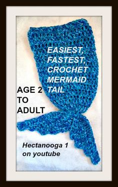 Crochet this easy mermaid tail blanket! Scroll down for the free pdf and the video tutorial! This free crochet mermaid tail pattern includes sizes from age 2 to Adult. Be a mermaid while you wrap …