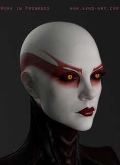 Different Eye Shapes 498632989992505848 - ArtStation – WIP Asajj Ventress, Kenneth Doyle Source by alexanedouzet Clown Makeup, Sfx Makeup, Costume Makeup, Makeup Art, Halloween Makeup, Makeup Eyes, Cyberpunk, Covergirl Makeup, Star Wars Logos