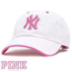 f61bc8f6371 Pink Victoria s Secret NY Yankee Cap