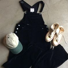 """Some rad new picks in the shop! 90's Velvet overalls with a 34"""" waist and 31"""" inseam, $58 plus $16 shipping. Two tone cap, $18 plus $8 shipping, and off-white Chuck Taylor's US size 9, $55 plus $16 shipping. Call 415-796-2398 to purchase by phone or send PayPal payment to afterlifeboutique@gmail.com and reference item in post."""