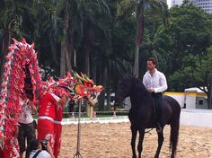 French Centaur meets Asian dragon for the first time @isawcentaur Singapore Arts Festival