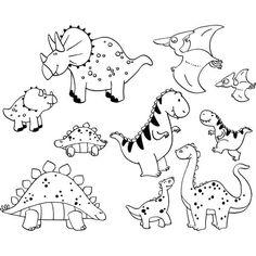 dibujos de dinosaurios varios para imprimir