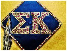 Sigma Kappa Graduation Cap.  Decorate Your Graduation Cap at www.tasseltoppers.com