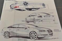 """坂井直樹の""""デザインの深読み"""": モデルチェンジ以前は、Audi A4などフロントライトと同じ高さと狭い幅だった小さい口(グリル)を、下に大きく切り取った口(グリル)にデザインを変更したのがA6の「シングルフレームグリル」この大胆なモデルチェンジは大成功し、それまでのアウディ・デザインを古いものにした。このマーケティング手法を計画的陳腐化という。"""