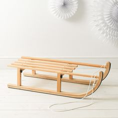 Wooden Sleigh | The Little White Company | The White Company #whitechristmaswishlist
