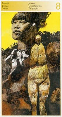 Eight of Pentacles (Jewels) - Tarot of the Origins by Sergio Toppi