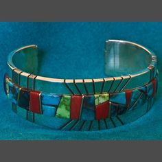 Turquoise Bracelet Wes Willie Silver Gold