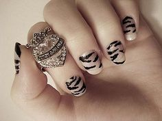 Animal Print but I would paint with nude polish first!!