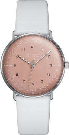 @junghansgermany Watch Max Bill Handaufzug Pre-Order #add-content #basel-16 #bezel-fixed #bracelet-strap-leather #case-depth-9mm #case-material-steel #case-width-34mm #delivery-timescale-1-2-weeks #dial-colour-pink #gender-mens #luxury #movement-manual #new-product-yes #official-stockist-for-junghans-watches #packaging-junghans-watch-packaging #pre-order #pre-order-date-30-07-2016 #preorder-july #style-dress #subcat-max-bill #supplier-model-no-027-3601-00 #warranty-junghans-official-...