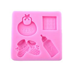 Baby Silicone Mold Fondant Cake Sugarcraft Decorating Bottle Shoes Shaped Candy Pastry MouldSilicone Cake Mold(China (Mainland))