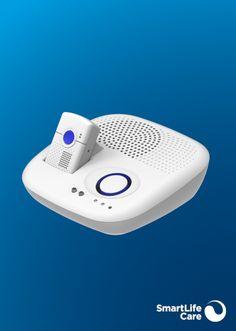 Flex ist das Rundum-Sorglos-Paket. Ideal, wenn Sie gerne auf Tour sind und zu Hause doch das Beste wollen. Es kombiniert den mobilen Notruf mit einer Basisstation mit grossem Lautsprecher für zu Hause. Parfait, Mobiles, Mini, Black Bracelets, Light Blue, Appliances, Stainless Steel, Music Speakers, Mobile Phones