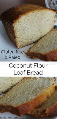 Paleo Coconut Flour Loaf Bread Recipe - Gluten free, paleo, dairy free, grain free bread recipe Coconut Flour Loaf Bread Recipe (Paleo and Gluten-free) Paleo Coconut Flour Bread Recipe, Loaf Bread Recipe, Almond Flour Recipes, Paleo Dairy, Paleo Bread, Paleo Flour, Bread With Coconut Flour, Meal Bread, Coconut Flour Muffins