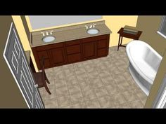 Lund Master Bathroom CAD Design Option #1   MasterCraft Kitchen U0026 Bath    Http: