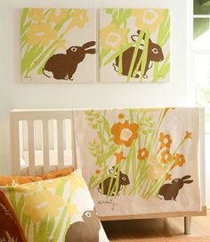 bunny nursery We've finally decided that this will be Baby Detten #1's nursery theme! Thanks to Carly for finding it!