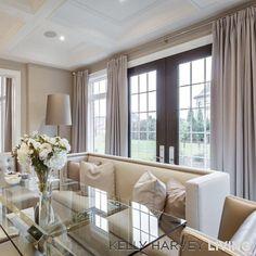 I use banquets in breakfast areas whenever possible #kellyharveyliving #khl #handmade #luxury #bespoke #ukstyle #kleinburg #modelhome #interiordesign #design