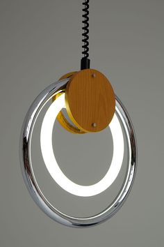 Vintage Pendant Lamp with Fluorescent Circular Tube