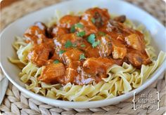 Paprika Chicken Stroganoff.  This was SO GOOD. Definitely try it. I'm putting it in my dinner rotation!