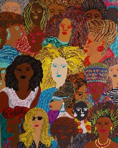 I created this painting to celebrate the diversity of African American women…