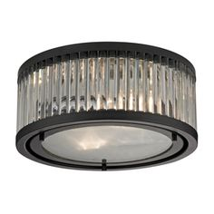 LOWES   Westmore Lighting Chelsea 12-in W Oil-Rubbed Bronze Ceiling Flush Mount