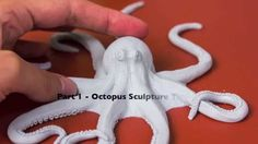 Art Time Lapse of an Octopus Sculpture, Part 1