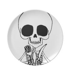 Cute Skeleton Dinner Plate by ShayneoftheDead