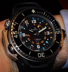 La Montre du jour: Blancpain X Fathoms [Baselworld Best Kids Watches, Amazing Watches, Beautiful Watches, Cool Watches, Vintage Rolex, Vintage Watches, Stylish Watches, Luxury Watches, Vintage Pocket Watch