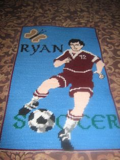 Soccer cross stitch photo by Marcelle Powell