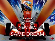 El cartel de McLaren dedicado a Alonso y que se 'olvida' de Button