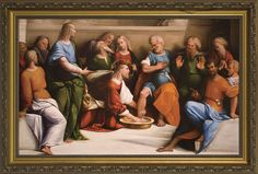 Christ Washing the Feet of His Apostles Framed Art