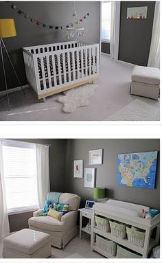 Baby room -like the colors.