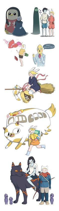 Adventure Time x Studio Ghibli