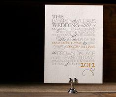 Typology Letterpress Stationery from Bella Figura