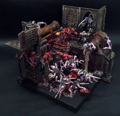 Blood Angels VS Genestealers Diorama #Miniatures #40K