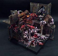 Blood Angels VS Genestealers Diorama #Miniatures #40K