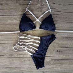 0b2db33dad 2 Pc Blue Laced Bikini Set | Diplomatic Xchange Bikini Set, Sexy Bikini,  Thong
