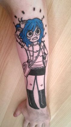 Ramona Flowers tattoo, Kym Munster, Otzi Tattoos, Glasgow