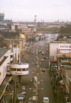 Beatrixstraat 1989 doorkijk naar de haven